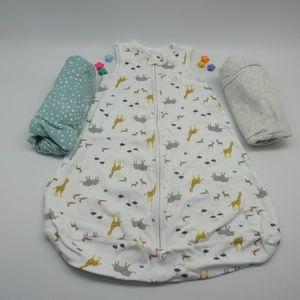 Simple Joys Carter's Baby 3 Pack Cotton Sleepbags